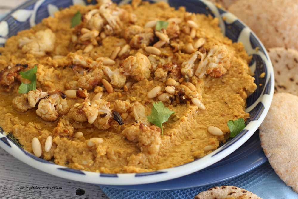 Roasted Cauliflower and White Bean Dip