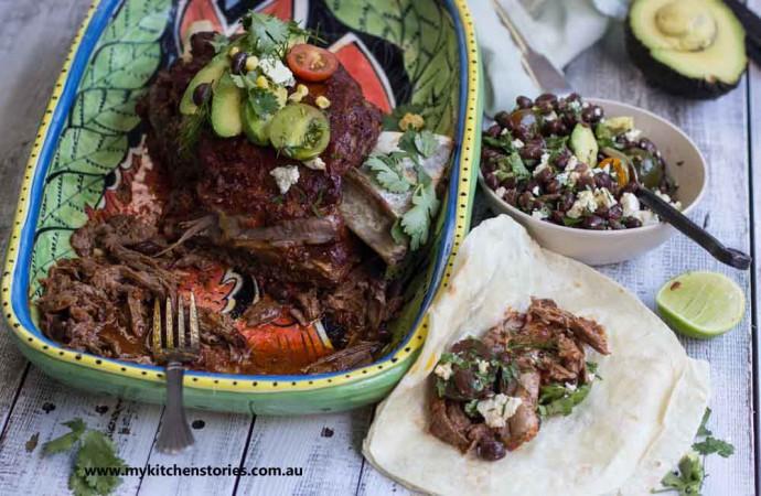 slow roast Lamb burritos
