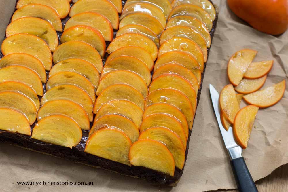 Chocolate Persimmon slice 2
