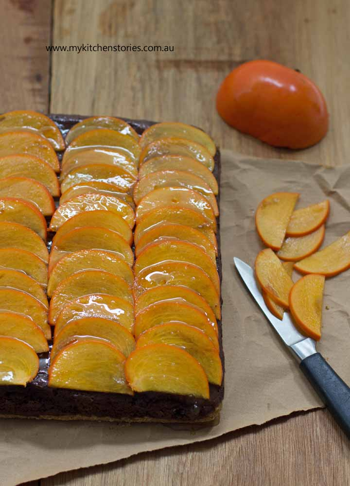 Persimmon Chocolate Mousse tart