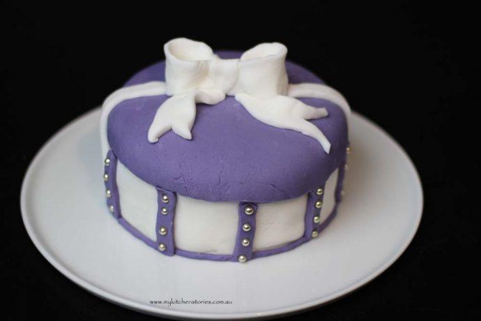 Purple Bow cake