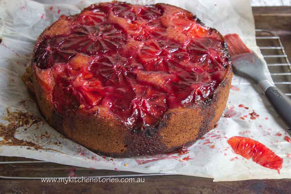 Warm Blood Orange Olive Oil Cake