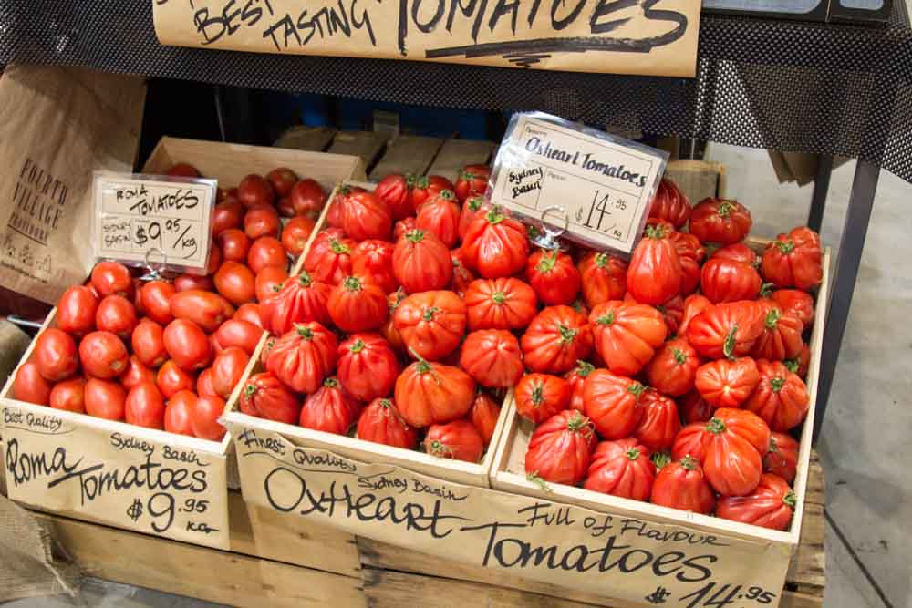 oxheart tomatoes at Fourth Village produce merchantas