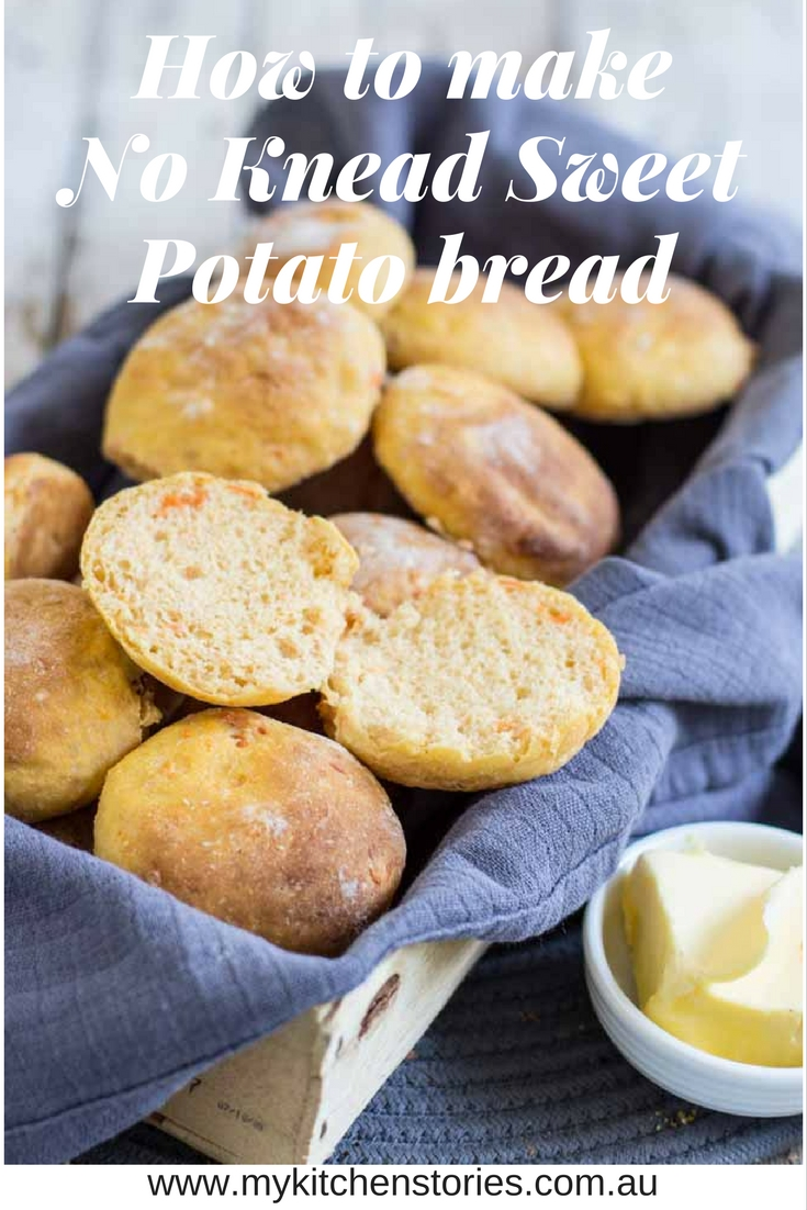 No knead sweet potato bread