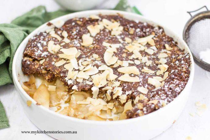 Anzac Biscuit Apple Pie