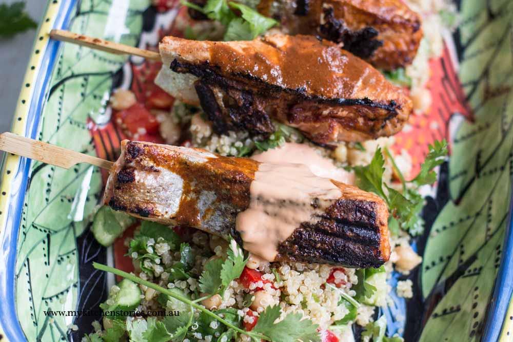Spiced Salmon Skewers