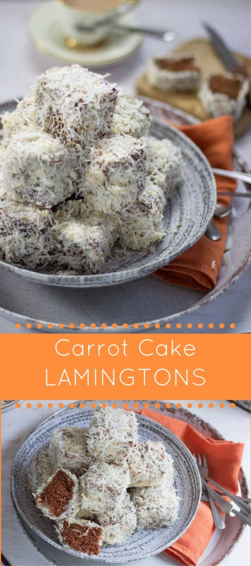 Carrot Cake Lamingtons