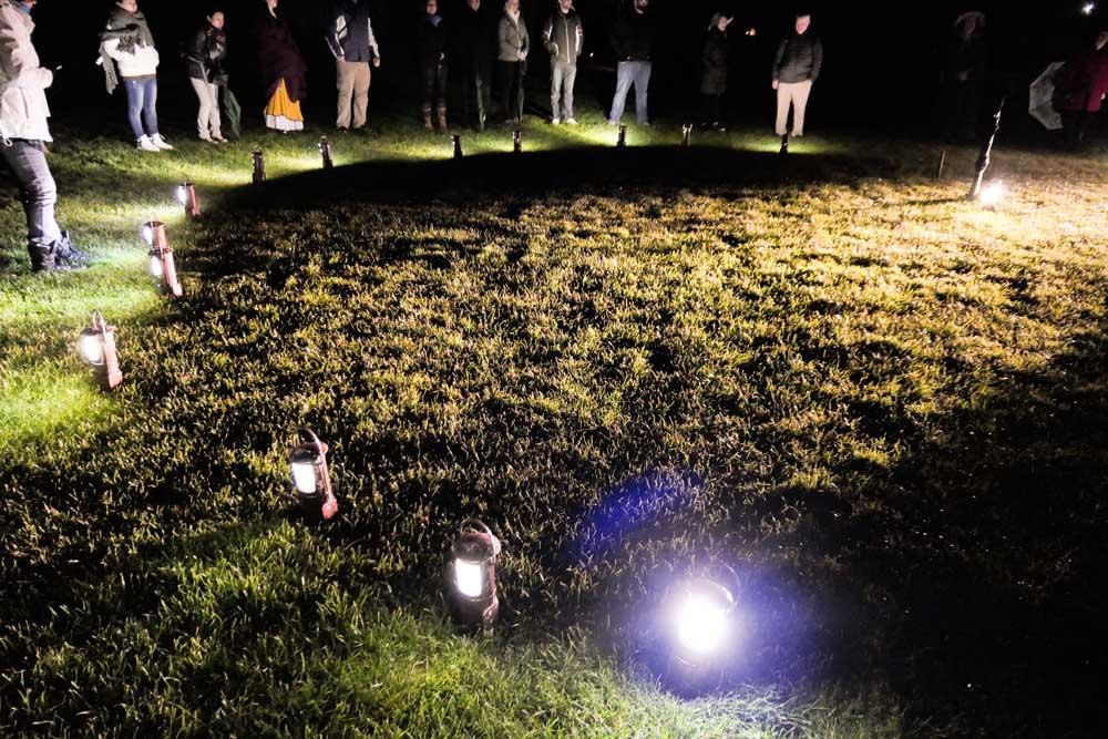 Lantern light under the Party Tree, Hobbiton