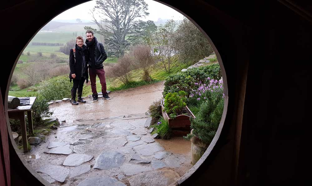 The view from a Hobbit hole