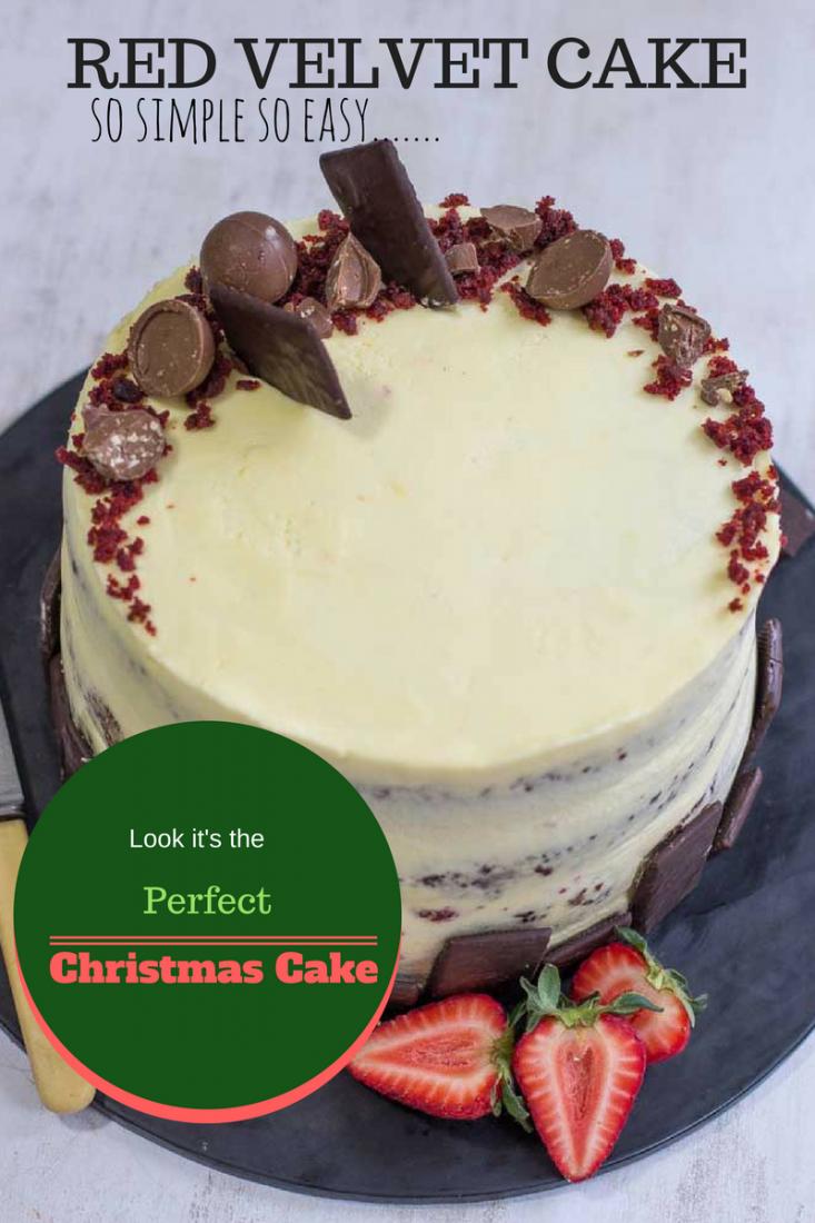 A Red Velvet Christmas cake