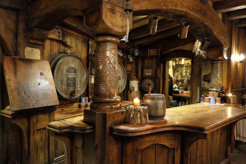 The bar at the Green Dragon, Hobbiton