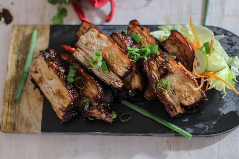 Sliced whole Braised Pork Belly