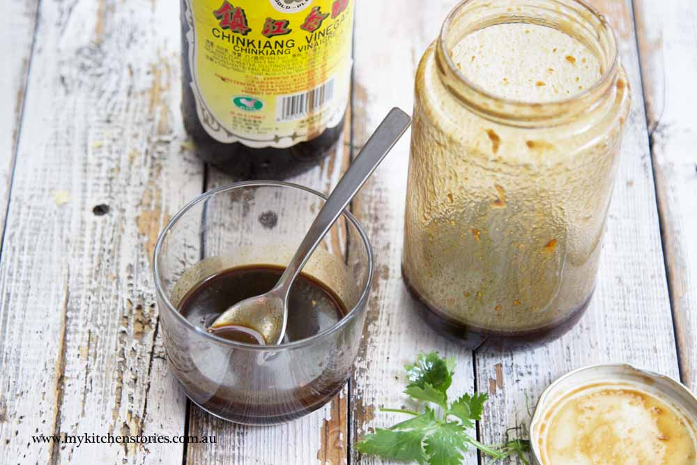 Hoisin Black vinegar dressing in a jar
