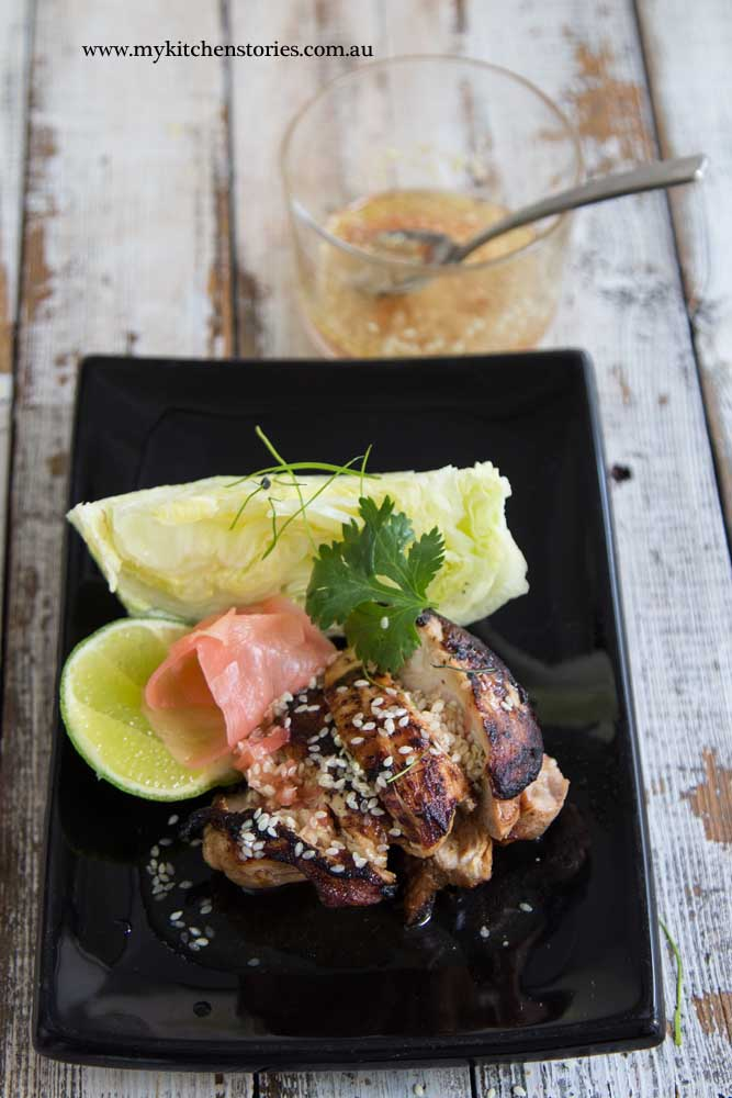 Yuzu Sesame dressing with chicken