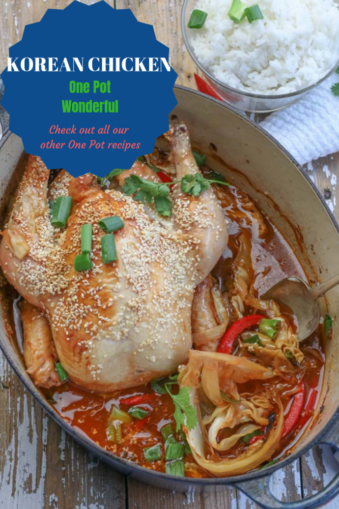 Korean Chicken cooked in one pot