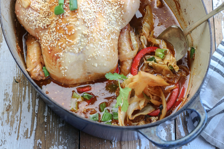 Korean Chicken in a delicious cooking liquor