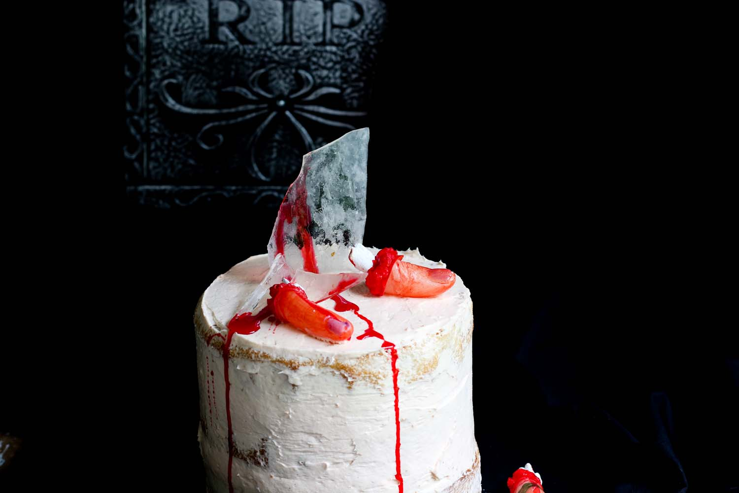 Severed Finger cake
