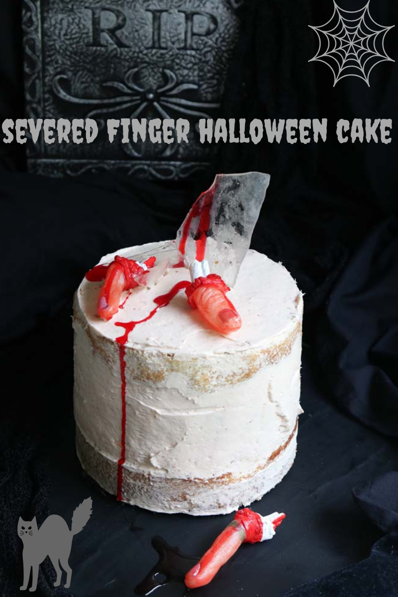 Severed Finger Cake for Halloween make it for fun