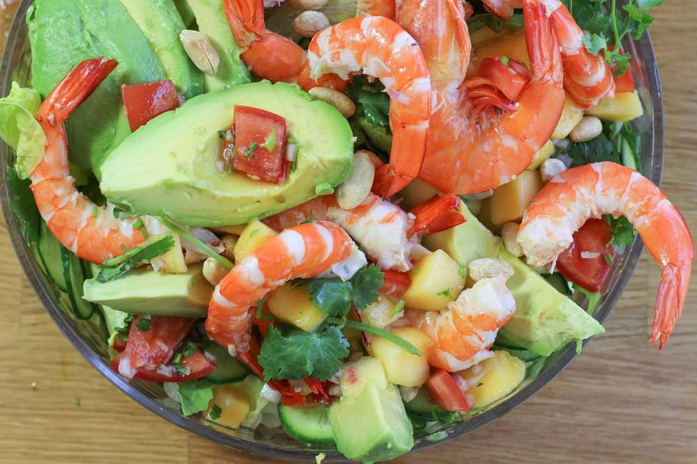 Prawn salad with Salsa