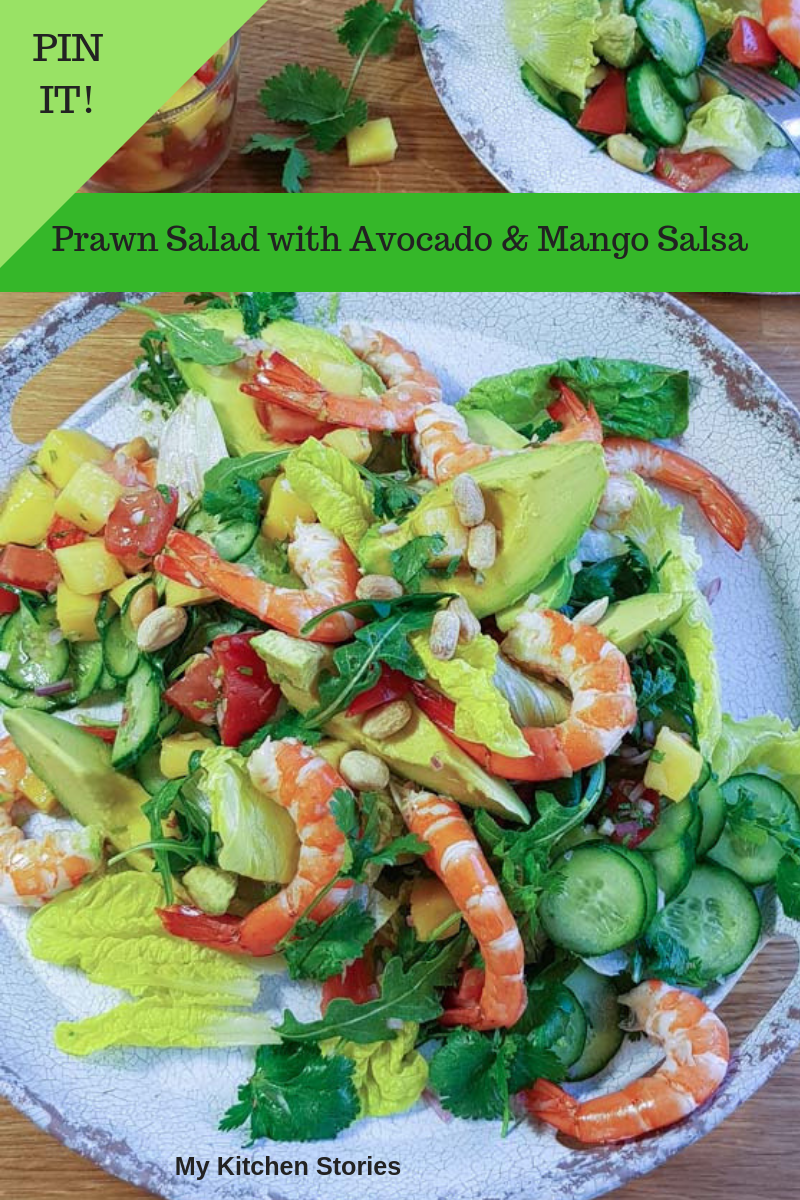 Prawn Salad with avocado and mango