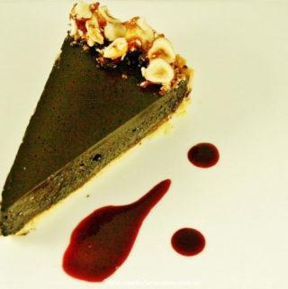 Dark Chocolate tart with dark chocolate