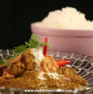 Lamb Korma with rice