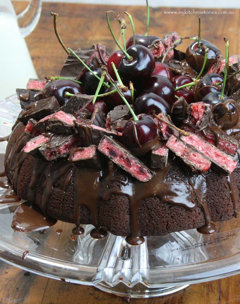 Vegan Chocolate Cake with decorations
