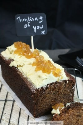 Ginger Loaf with glace Ginger on top