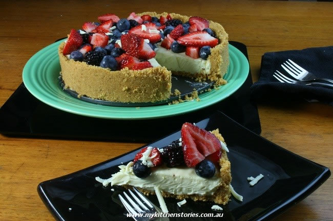 White Chocolate Berry Tart no baking required