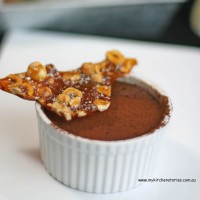 Warm Chocolate mousse with praline