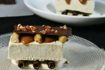 banana semifreddo caramel and chocolate