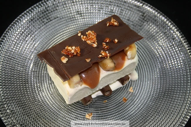 Banana and salted caramel semifreddo