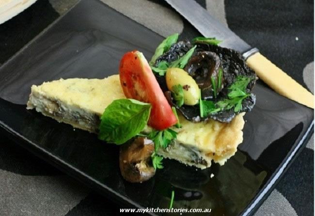 Mushroom Parmesan Tart
