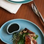 Crispy Skinned Chicken with caramel sauce