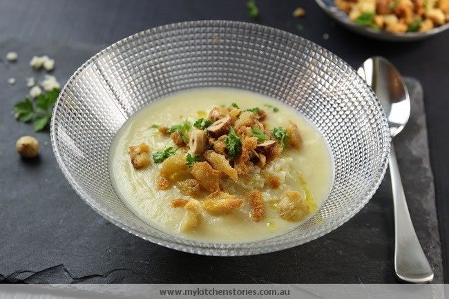 Cauliflower cheddar soup made with love