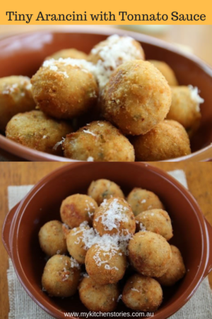 Tiny Arancini for parties