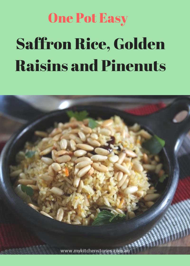 Saffron Rice with Pinenuts