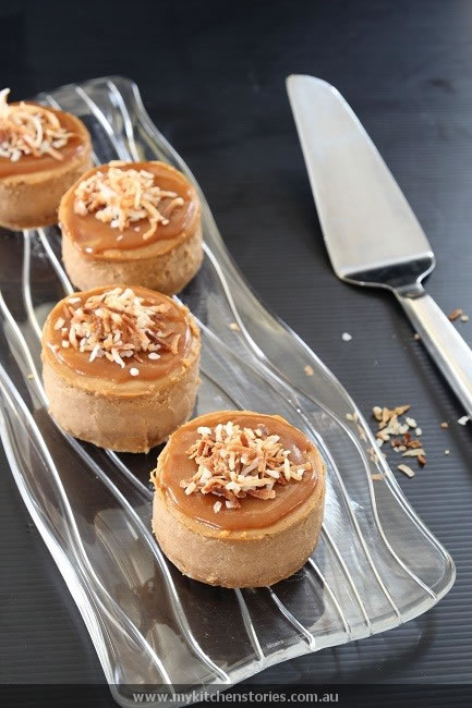 Sweet Potato Cheesecake on a clear plate