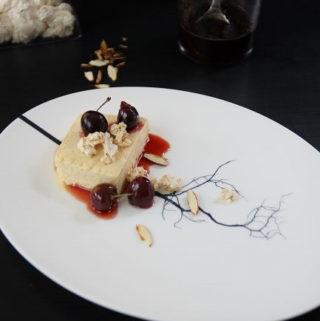 Semifreddo No Churn Icecream with cherries