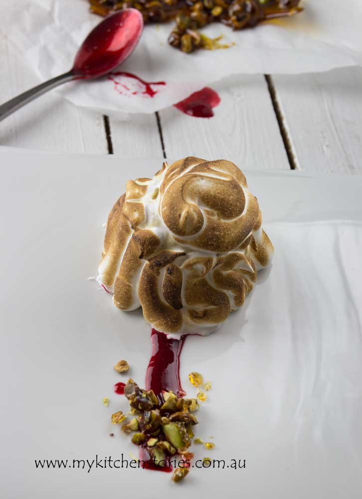 Mini Baked Alaska with Praline 1