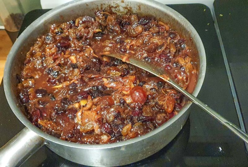 A pot of home made fruit mince