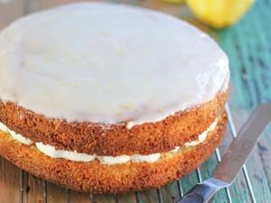 Lemon Ricotta cake filled with whipped ricotta cream