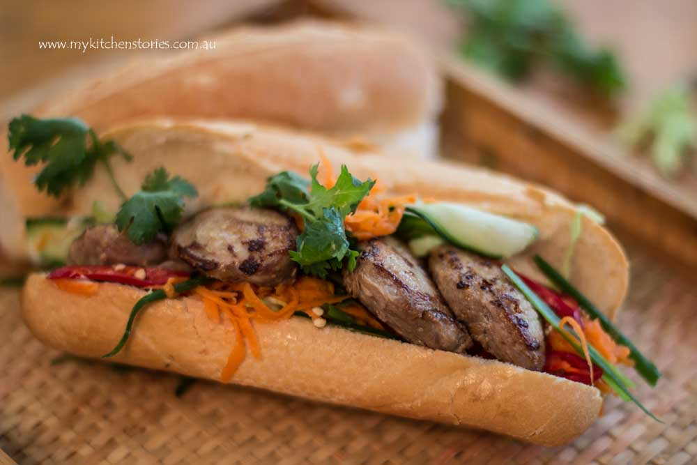 Quail Banh Mi with pickle