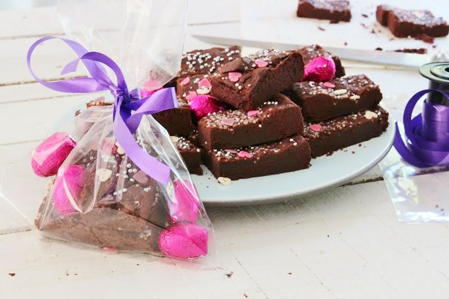 Chocolate shortbread packed with Easter eggs