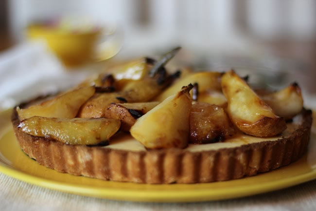 Gluten Grain Free Lemon Honeyed Pear Tart