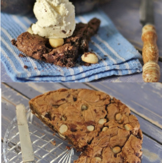 Giant Skillet cookie with icecream