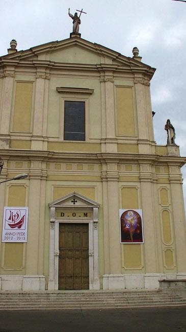 The church in  Gottolengo, Brescia