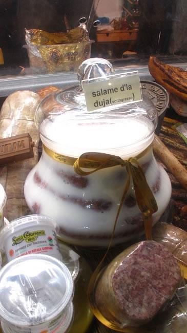 Salame D'la Duja preserved under fat