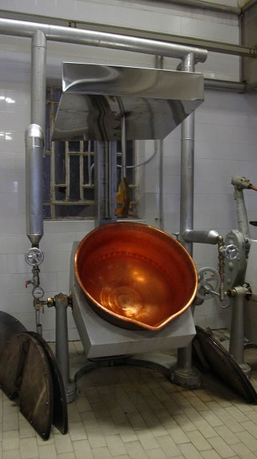 The hundred year old copper pots