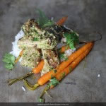 Coriander macadamia Pesto Chicken with tiny carrots